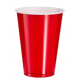 Plastic Cup PS Red American Party 10 Oz/300ml (2500 Units)