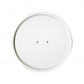 Paper Lid Flat White Ø9,8cm (25 Units)