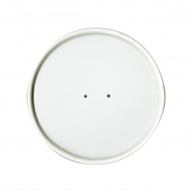 Paper Lid Flat White Ø9,8cm (500 Units)