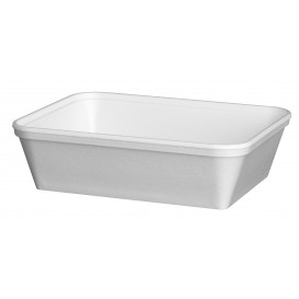 "Foam Container ""Diner-Pack"" Rectangular Shape White 740ml (25 Units)"