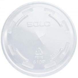 Plastic Lid with Straw Slot PET Crystal Flat Ø7,8cm (1000 Units)