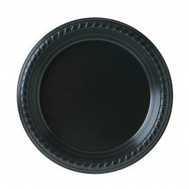 Plastic Plate Party PS Flat Black 18 cm (500 Units)