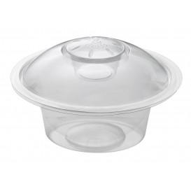 "Plastic Deli Container 375ml + Plastic Lid ""Press&Dress"" + Portion Cup (150 Packs)"