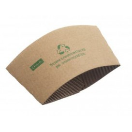 Paper Cup Sleeve Corrugated 12 / 20 Oz (100 Units)