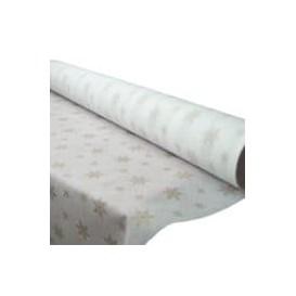 "Novotex Tablecloth Roll White ""Estrellas"" P40cm 1,2x50m (6 Units)"