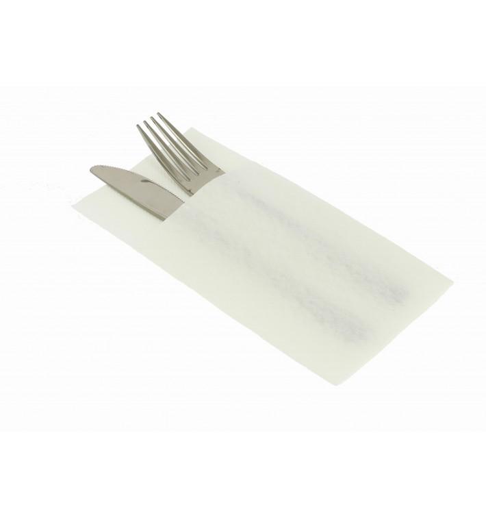 Pocket Fold Paper Airlaid Napkins Kanguro White 33x40cm (30 Units)