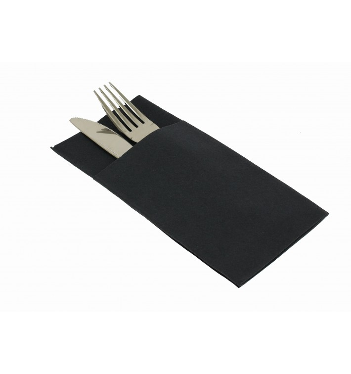 Pocket Fold Paper Airlaid Napkins Kanguro Black 33x40cm (480 Units)