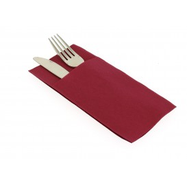 Pocket Fold Paper Airlaid Napkins Kanguro Burgundy 33x40cm (480 Units)