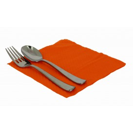 Paper Napkin Orange 33x33cm 1 Layer (3360 Units)
