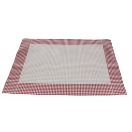 "Paper Placemats 30x40cm ""Pata Gallo"" Burgundy 50g (500 Units)"