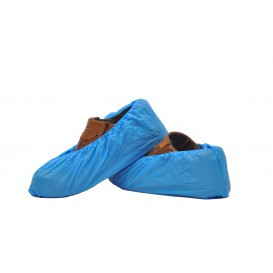 Disposable Plastic Shoe Covers PE CPE G160 Blue (100 Units)