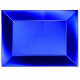 "Plastic Tray Microwavable Blue ""Nice"" 34,5x23cm (6 Units)"