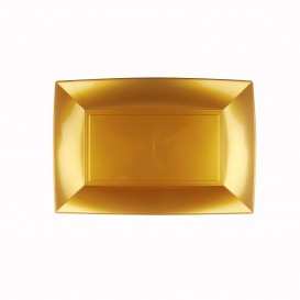 """Plastic Tray Microwavable Gold """"Nice"""" 28x19cm (240 Units)"""