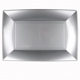 "Plastic Tray Microwavable Grey ""Nice"" 34,5x23cm (6 Units)"