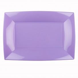 """Plastic Tray Microwavable Lilac """"Nice"""" 34,5x23cm (6 Units)"""