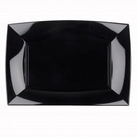 """Plastic Tray Microwavable Black """"Nice"""" 34,5x23cm (6 Units)"""