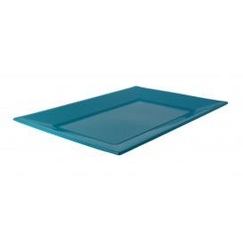 Plastic Tray Turquoise 33x22,5cm (3 Units)