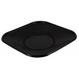 "Plastic Plate PP ""X-Table"" Square shape Black 23 cm (120 Units)"