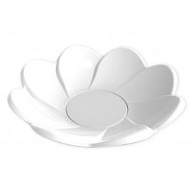 """Tasting Plastic Plate PS """"Margarita"""" White 30ml (25 Units)"""