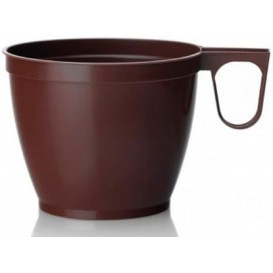 Plastic Cup Brown 180ml (50 Units)