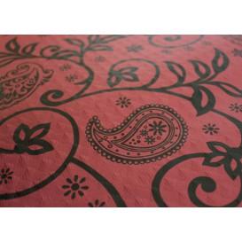"Pre-Cut Paper Tablecloth 1x1m ""Cachemir"" Burgundy 37g 1x1m (400 Units)"