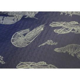 """Pre-Cut Paper Tablecloth 1x1m """"Marisco"""" Blue 37g 1x1m (400 Units)"""