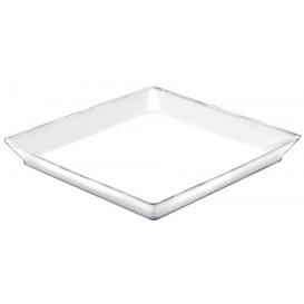Tasting Tray PS Medium size White 13x13 cm (192 Units)