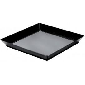 Tasting Tray PS Medium size Black 13x13 cm (12 Units)