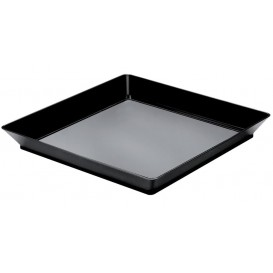 Tasting Tray PS Medium size Black 13x13 cm (192 Units)