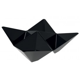"Tasting Plastic Bowl PS ""Origami"" Black 10,3x10,3cm (25 Units)"