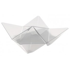 "Tasting Plastic Bowl PS ""Origami"" Clear 10,3x10,3cm (500 Units)"