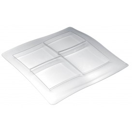 "Plastic Compartment Tray PS ""FoodPoker"" 4C 36x36cm (12 Units)"