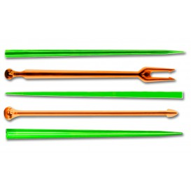 "Plastic Food Pick ""Snack Stick"" Multicolour 9cm (1650 Units)"