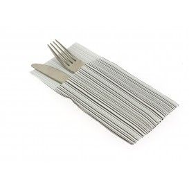 "Pocket Fold Paper Napkins ""Basic"" Black 40x40cm (960 Units)"