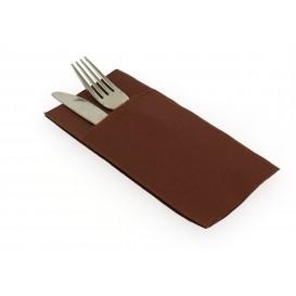 Pocket Fold Paper Napkins Brown 40x40cm (960 Units)