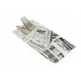 "Pocket Fold Paper Napkins ""Press"" 40x40cm (960 Units)"