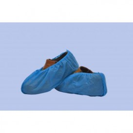 Disposable Plastic Shoe Covers PP Blue (100 Units)