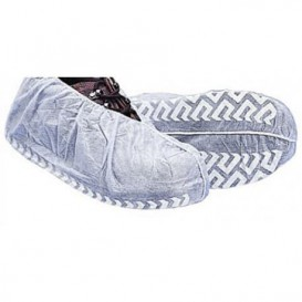 "Disposable Plastic Shoe Covers ""TST"" Anti-Slip White (100 Units)"