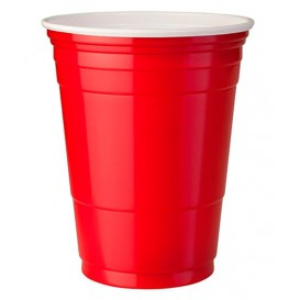 Plastic Cup PS Red American Party 360ml (50 Units)