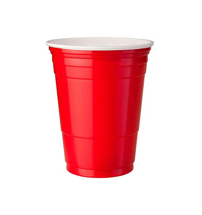 Plastic Cup PS Red American Party 360ml (1000 Units)