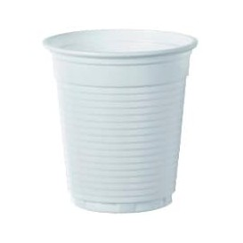 Plastic Cup PS White 166ml Ø7,0cm (100 Units)