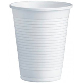 Plastic Cup PS White 200ml Ø7,0cm (3000 Units)