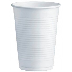 Plastic Cup PS White 230ml Ø7,0cm (100 Units)