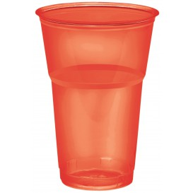 "Plastic Cup PS Crystal ""Diamant"" Red 250ml Ø7,2cm (10 Units)"