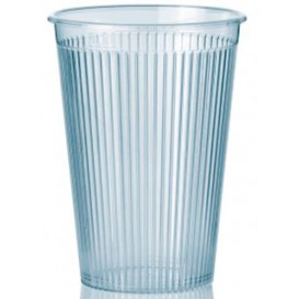 """Plastic Cup PS """"Ribbed"""" Clear 200 ml (1.000 Units)"""