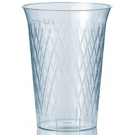 """Plastic Cup PS Injection Moulding """"Rombos"""" 200 ml (50 Units)"""