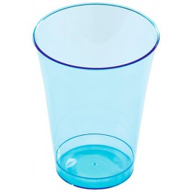 Plastic Cup PS Injection Moulding Turquoise 230 ml (10 Units)