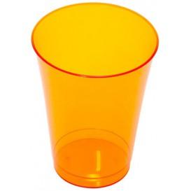 Plastic Cup PS Injection Moulding Orange 230 ml (10 Units)