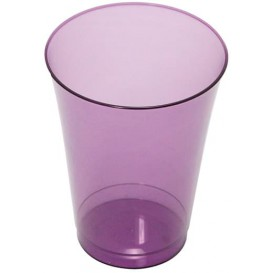 Plastic Cup PS Injection Moulding Eggplant 230 ml (10 Units)