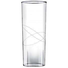 "Plastic Collins Glass PS ""Moon"" Clear 300ml (10 Units)"